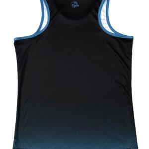 050101 – CAMISETA PÁDEL MUJER SIN MANGAS – GRADIENT BLACK & BLUE